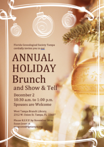 Annual Holiday Brunch Flyer